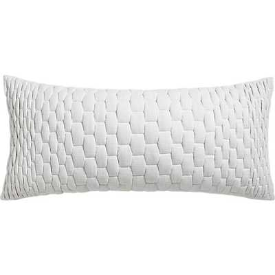 mason quilted ombre pillow - CB2