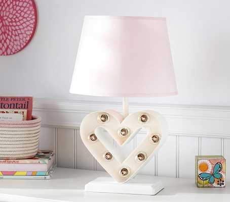 Heart Marquee Complete Lamp - Pottery Barn Kids