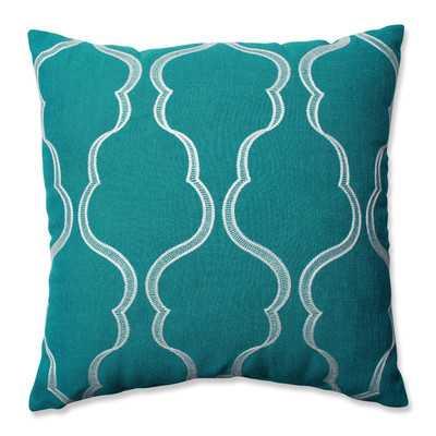 """Cassie Throw Pillow - Blue - 18"""" H x 18"""" W - Polyester insert - Wayfair"""