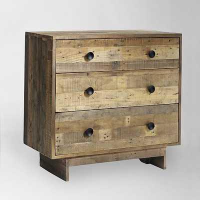 """Emmersonâ""""¢ Reclaimed Wood 3-Drawer Dresser - Natural - West Elm"""