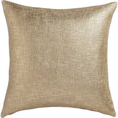 "Glitterati gold 23"" pillow with feather insert - CB2"