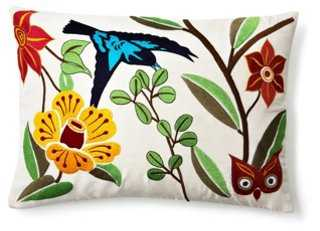Flowers 14x20 Embroidered Pillow, Multi - One Kings Lane