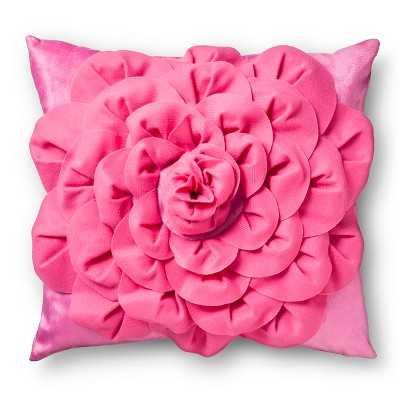 3D Rose Decorative Pillow - Pink - Target