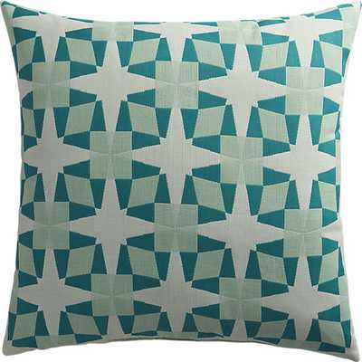 Moravian star outdoor pillow - 20x20, With Insert - CB2