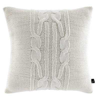 Seaward Acrylic Knit Cable Polyester Decorative Pillow - Wayfair