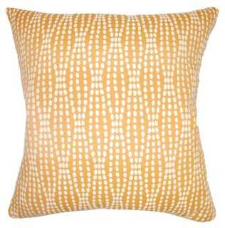 """Udell Pillow, Tangerine, 18"""" x 18"""" down/feathers insert - One Kings Lane"""
