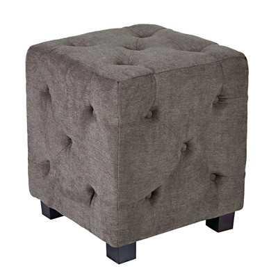 Duncan Tufted Upholstered Cube Ottoman - Wayfair