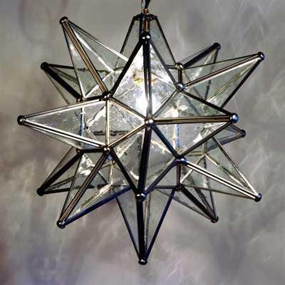 Quintana Roo Glass Moravian Star Pendant - atgstores.com