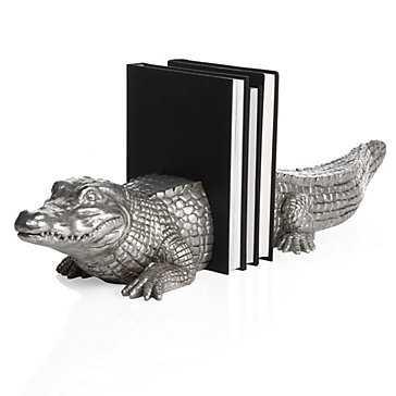 Alligator Bookends - Set of 2 - Z Gallerie