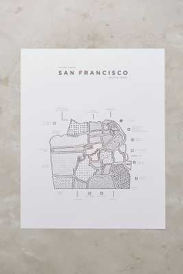Neighborhood Patterns City Map, San Francisco - Anthropologie