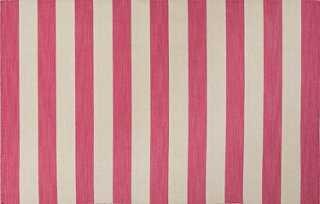 Fiona Flat-Weave Rug, Pink/Ivory - 8' x 10' - One Kings Lane