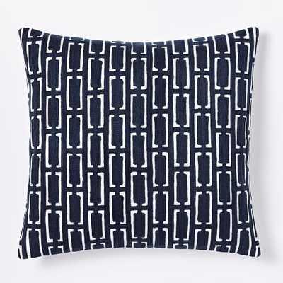 "Mid Century Crewel Bracket Geo Pillow Cover - Nightshade-20""sq.-Insert sold separately). - West Elm"
