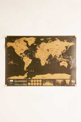 Deluxe World Scratch Map - Large - Urban Outfitters