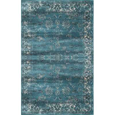 "Velu Shellie Marine Vintage Area Rug - 7'8"" x 9'6"" - Wayfair"