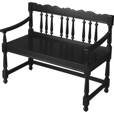 Cather Bench - Black Licorice - Wayfair