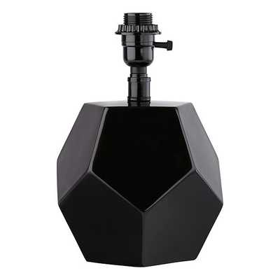 Between a Rock and a Table Lamp Base (Black) - Land of Nod