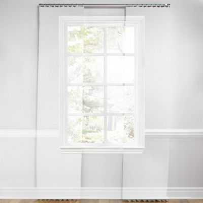 """Light tan & white scroll pleated curtain - 32""""W x 84""""L - Loom Decor"""