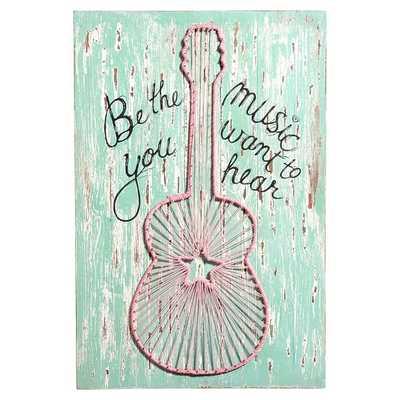 Junk Gypsy Be The Music You Hear Wall Art - Pottery Barn Teen