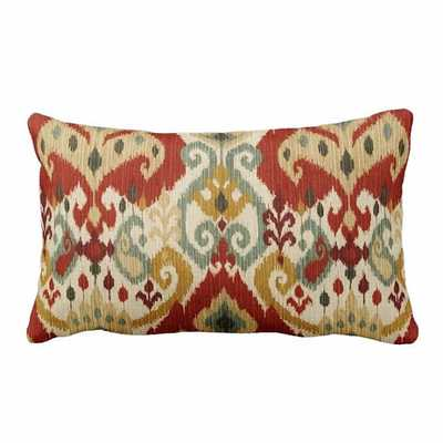 "Zippered Moroccan Ikat Lumbar Throw Pillow Cover - 12"" x 18"" - Insert not included - Etsy"