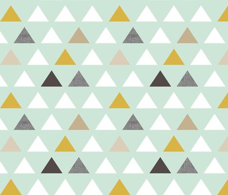 mod mint triangles - Spoonflower