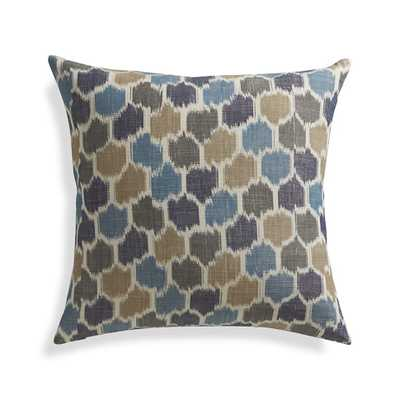 "Vargas 20"" Pillow with Down-Alternative Insert - Crate and Barrel"