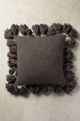Knitted Tassel Pillow - Anthropologie