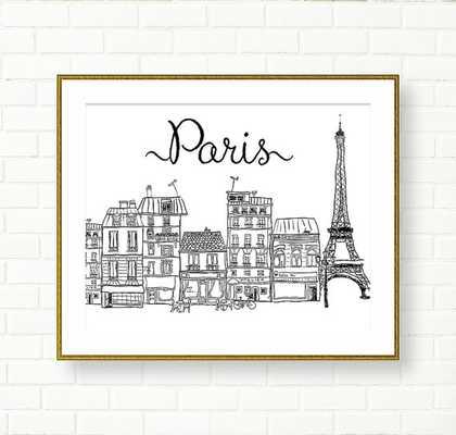 """Paris Art Print - 5"""" x 7"""" - Etsy"""