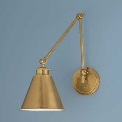 Norwell Aidan Aged Brass Swing Arm Wall Lamp - Bellacor