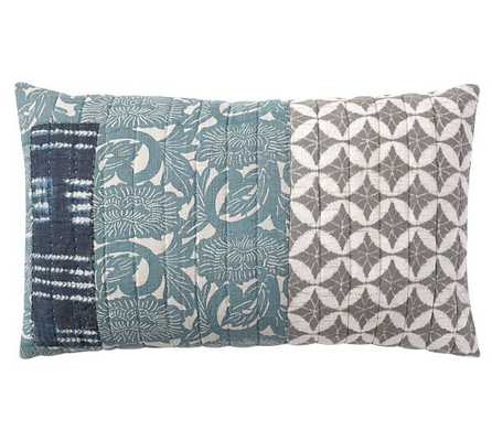 Malibu Patchwork Pillow Cover - 16x26 - Insert Sold Separately - Pottery Barn