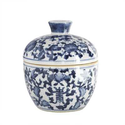 CHINESE FLOWER JAR - Wisteria