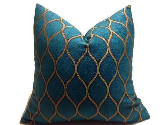 Iman Moroccan Peacock Pillow Cover - Etsy