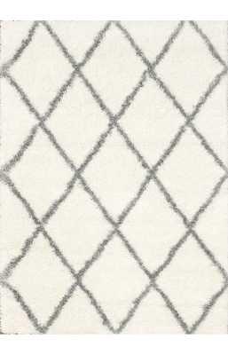 Moroccan Diamond Shag Rug + Pad - Rugs USA
