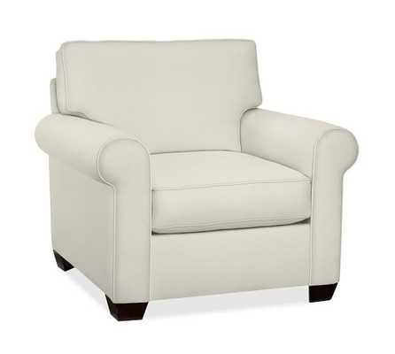 Buchanan Roll Arm Upholstered Armchair - Pottery Barn