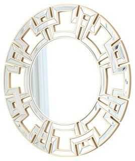 Zentro Wall Mirror, Gold - One Kings Lane