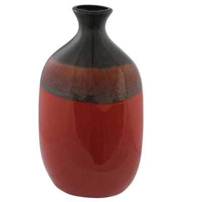 Crimson Red Vase - Overstock