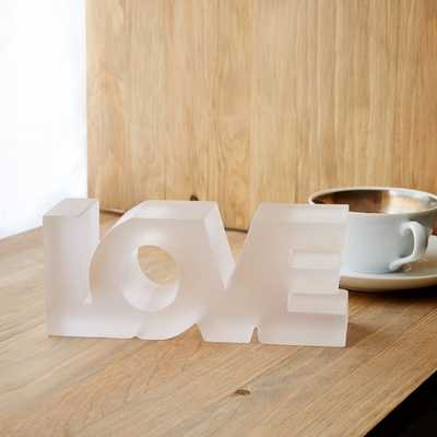 Block Word Object - Love - West Elm