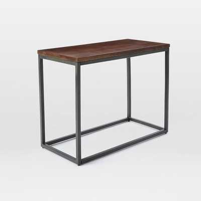 Box Frame Narrow Side Table - Wood - West Elm