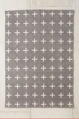 Assembly Home Plus Sign Printed Rug - Grey, 5' x 7' - Urban Outfitters
