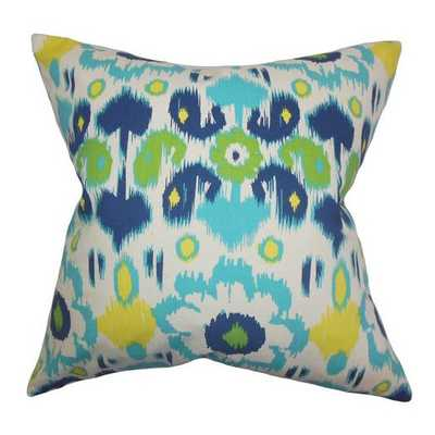 Querida Ikat Cotton Throw Pillow 18''sq. insert included - AllModern