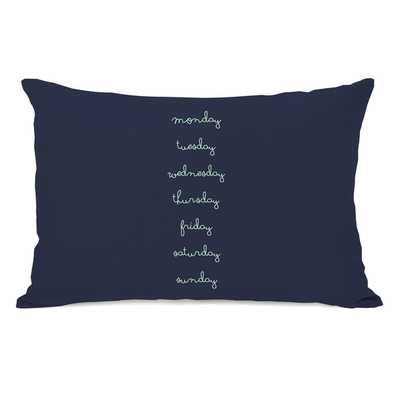 Days of the Week Throw Pillow - Navy - Overstock