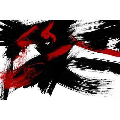 "Brush Strokes Painting Print on Canvas- 24""x 36""- Unframed - AllModern"