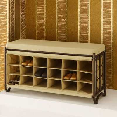 Metal Storage Bench - Wayfair