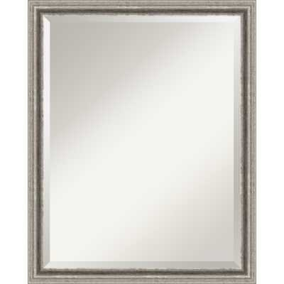 Amanti Art Bel Volto Pewter Large Wall Mirror - Bellacor