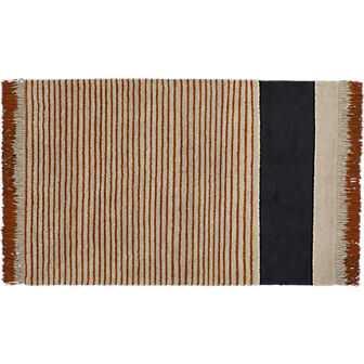 Camel pinstripe rug 5' x 8' - CB2