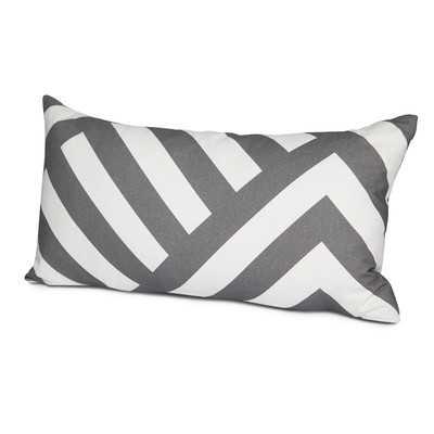 Zara Cotton Lumbar Pillow - 12x24 - with Insert - Wayfair