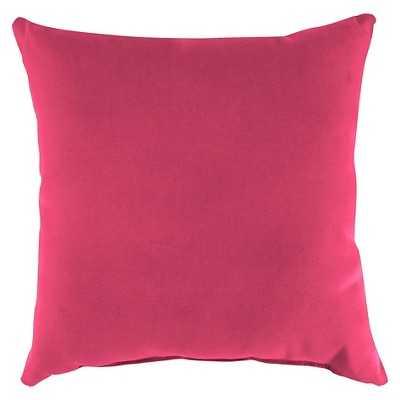 Jordan Set of Square Toss Pillows - Hot Pink -with insert - Target