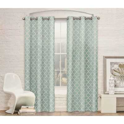 "Moroccan Trellis Curtain Panel - Green - 96""L x 104""W - Wayfair"