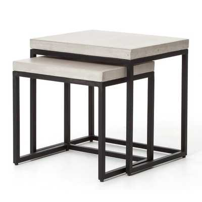 dCOR design Maximus 2 Piece Nesting Tables - Wayfair