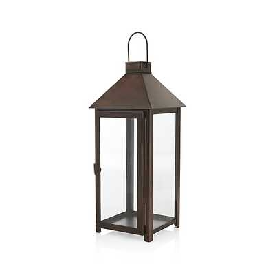 Knox Large Bronze Metal Lantern - Crate and Barrel