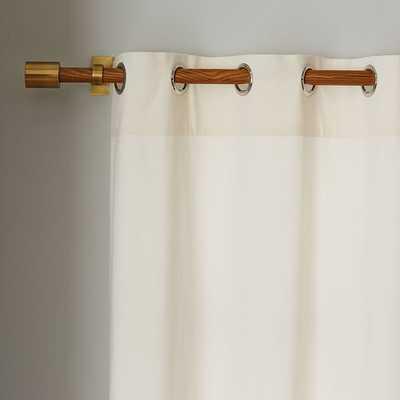 """Velvet Grommet Curtain - Ivory-124"""" - West Elm"""